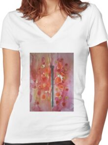 Butterfly 2 Women's Fitted V-Neck T-Shirt