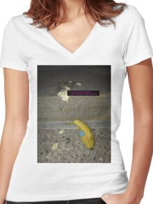 banana.jpeg 6 Women's Fitted V-Neck T-Shirt