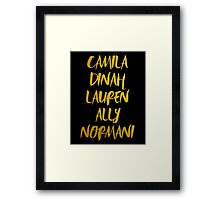 5H GOLD NAMES.  Framed Print