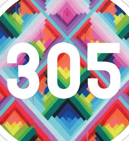 305 miami wynwood walls Sticker