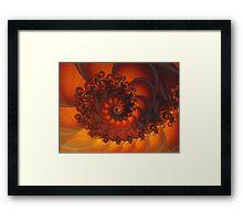 Decorative Shell Fractal  Framed Print