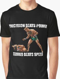 Conor McGregor Knocks Out Jose Aldo Graphic T-Shirt