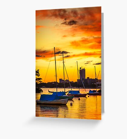 Anchored in gold Greeting Card