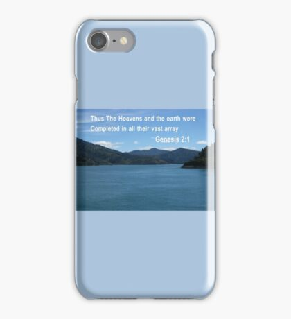 Blue Waters of the Marlborough Sounds (4019 Views) iPhone Case/Skin