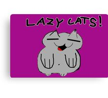 Lazy Cats! (They're first appearance!) Canvas Print