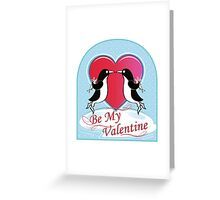 Love Penguins Valentine Greeting Card