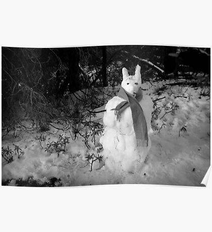 snow bunny person Poster
