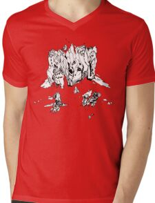Ice Face Mens V-Neck T-Shirt