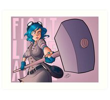 Ramona Flowers #FightLikeAGirl Art Print