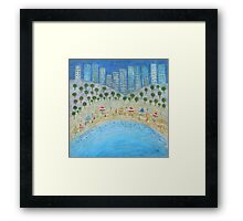 Beach City Framed Print
