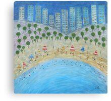 Beach City Canvas Print