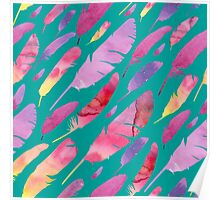 - Watercolor feathers - Poster