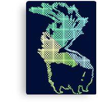 Checkerboard Skunk Canvas Print
