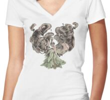 Ears of Madeira Women's Fitted V-Neck T-Shirt