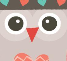 Hipster Owlet Mint v2 Sticker