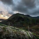 Snowdonia from A5 lay-by by nadine henley