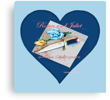 Romeo and Juliet Heart Canvas Print