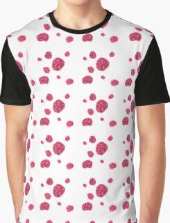 Hydrangea Pattern Sparse Graphic T-Shirt
