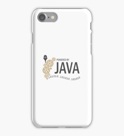 Powered  by Java VRS2 iPhone Case/Skin