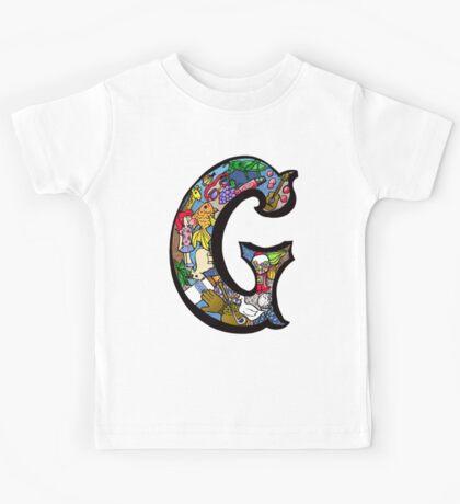 Doodle Letter G Kids Tee