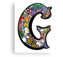 Doodle Letter G Metal Print
