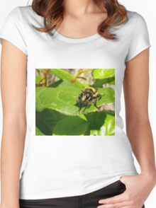 What are YOU looking at? Women's Fitted Scoop T-Shirt
