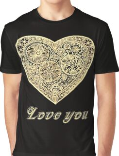 golden heart I love you Graphic T-Shirt