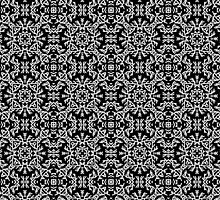 Abstract black and white pattern in ethnic style by Bigmom