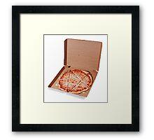 Satanic Pizza Framed Print