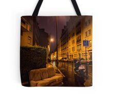 Couch in the street Tote Bag