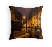 Couch in the street Throw Pillow
