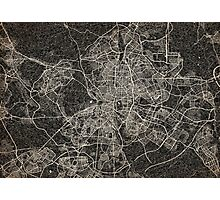Madrid map ink lines Photographic Print