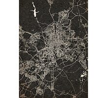 Madrid map ink lines 2 Photographic Print