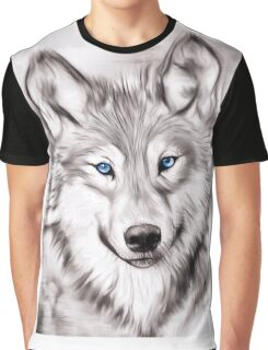 The Wolf with blue eyes Graphic T-Shirt
