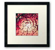 Metal Puzzle RETRO RED Framed Print