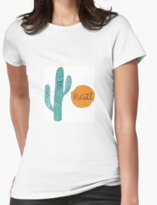 Cactus Hugz Womens Fitted T-Shirt