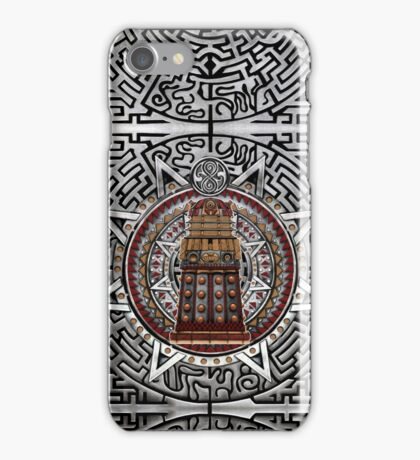 Aztec Time Police Droid Pencils sketch Art iPhone Case/Skin