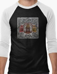 Aztec Time Police Droid Pencils sketch Art Men's Baseball ¾ T-Shirt