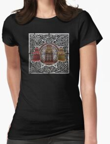 Aztec Time Police Droid Pencils sketch Art Womens Fitted T-Shirt