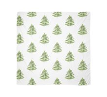Green ferns watercolor poster Scarf