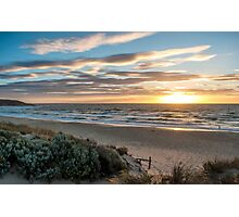Southport Beach, South Australia at Sunset #5 Photographic Print