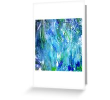 'Seattle Seahawks' Inspired 'Rain Painting' Raw Greeting Card
