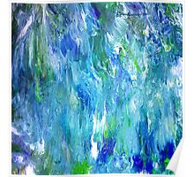 'Seattle Seahawks' Inspired 'Rain Painting' Raw Poster