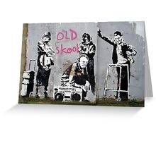 banksy-20 Greeting Card