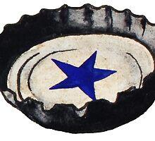 Sarsaparilla Star Bottlecap by YoLani