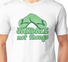 JANDALS not thongs with funny New Zealand  Unisex T-Shirt