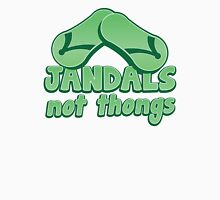 JANDALS not thongs with funny New Zealand  T-Shirt