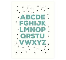 Alphabet (green) Art Print