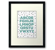 Alphabet (green) Framed Print