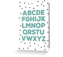 Alphabet (green) Greeting Card